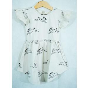 アイスランド 子供服 iglo+indi イグロ&インディ ワンピース 女の子 ドレス ウサギ柄 オーガニックコットン 可愛い 北欧|shinshinnet