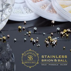 ネイルパーツ ネイルブリオン 最高級 ステンレス製 ゴールド シルバー ピンクゴールド ケース付 新商品|shinwa-corp
