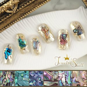 ■製品説明 美しいマーブル模様で、宝石のように輝くシェルフレーク。 雰囲気のあるおしゃれなネイルに仕...