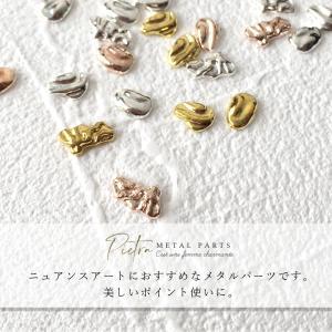 ネイルパーツ メタルパーツ ピエトラ 3色 9種 カーブ付き ニュアンスネイル|shinwa-corp