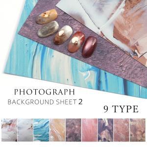 ネイルチップ 撮影用 シート デザインペーパー vol.2 全9種 shinwa-corp