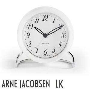 AJクロック43670 LK/エルケー ホワイト 110mm TABLE CLOCK アルネ・ヤコブセン/ARNE JACOBSEN 43670 置き時計|shinwashop