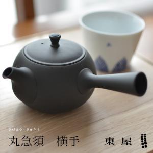 【東屋・あづまや】丸急須 横手 鳥泥 茶漉し2タイプ【並細・極細】|shinwashop