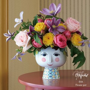 BJORN WIINBLAD/ビヨン・ヴィンブラッド Eva Flower pot[56512]/フラワーポット/φ15.5cm×H14.5cm /鉢/植木鉢/観葉植物/花|shinwashop