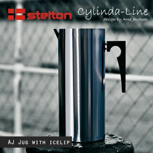 Stelton/ステルトン Cylinda-Line/シリンダライン AJジャグアイスクリップ付き 2L[03-3] Arne Jacobsen|shinwashop