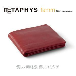 METAPHYS│メタフィス レッド famm Folding Wallet ファム 折り財布  |shinwashop