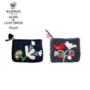 KLIPPAN/クリッパン アルマ&ラブバーズ ポーチ/ALMA/LOVE BIRDS/Pouch/おしゃれ/かわいい/キュート/プリティ|shinwashop