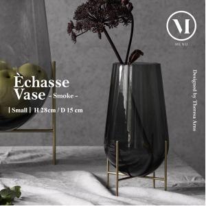 ●●menu メニュー Echasse Vase S, smoke イシャスベース Sサイズ スモーク 花びん|shinwashop
