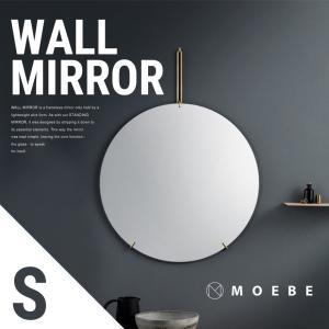 ●●MOEBE/ムーベ WALL MIRROR ミラー 直径30cm 鏡/ウォールミラー/丸型/壁掛け/ブラス/真鍮/ブラック/スチール/steel shinwashop