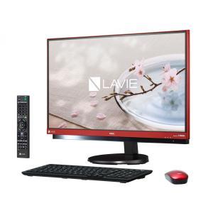 新品  デスクトップパソコン NEC LAVIE Desk All-in-one DA770/GAR PC-DA770GAR [ラズベリーレッド]  Office なし|shinway-store