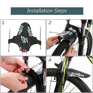 この泥除けは、軽量で柔軟性があり、ほとんどのMTBやロードバイクで利用できます。あなたのフォークst...