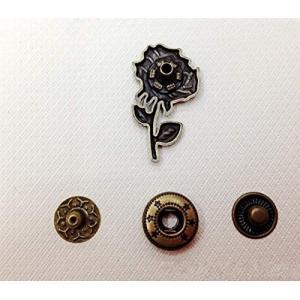 WellieSTR 15 Set Vintage Style Flower Cap Poppers Snap Fastener Press Stud Poppers Button-633