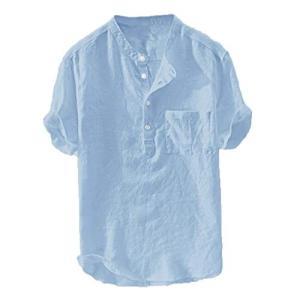 *【トップスの組み合わせ】*:定番のスタイルで、年齢問わずお勧めます。丸首シャツ メンズ 丸首セータ...