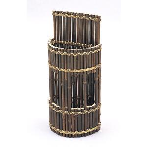 黒竹傘立て 半丸型|shioken