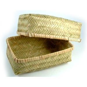 竹のお弁当箱(中) アジロ編み|shioken