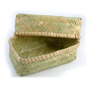 竹のお弁当箱(小) アジロ編み|shioken