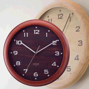 【rimlex】天然木電波時計(掛け時計)W-447|shioken