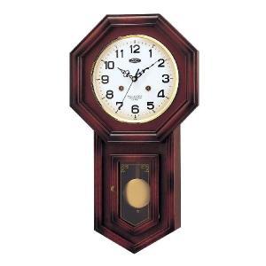昔ながらの古時計(チャイム、天然木採用)W-271 【mag】|shioken