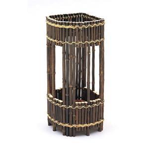 黒竹傘立て 扇型|shioken