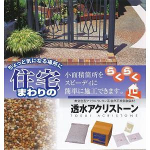 透水アクリストーン 自然石を固める樹脂舗装材 小粒(S)タイプ2平米セット|shioken