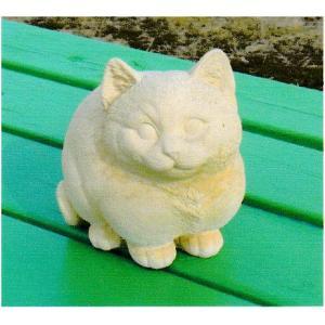 ガーデン雑貨 ネコの置物 座っている猫 ベビーキャット|shioken