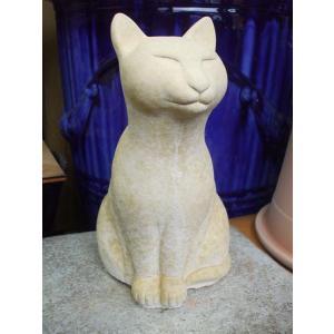 ガーデン雑貨 ネコの置物 座っている猫|shioken