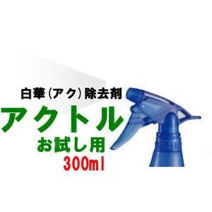 アクトル300ml お試し用 トリガースプレー付 白華(エフロ)除去剤 テクノクリーン|shioken