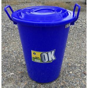 ポリバケツ(フタ付)40L 屋外用ゴミ箱 ポリ容器  丸形ペール|shioken