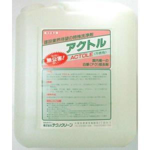 アクトル4リットル 白華(エフロ)除去剤 テクノクリーン|shioken
