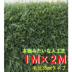 本物みたいな人工芝 幅1M×長さ2Mロール 毛足36mm|shioken