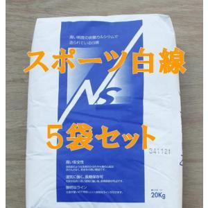 スポーツ白線 ラインパウダー 石灰 20kg×5袋セット|shioken