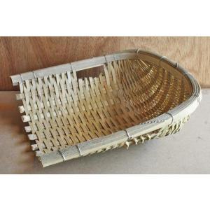 竹製石箕(竹石み) 土木作業・水作業・工事用竹製てみ|shioken