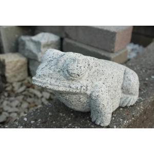 御影天然石 蛙の置物|shioken