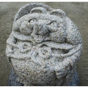 狸の置物(錆石)|shioken