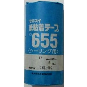 セキスイ 紙粘着テープ NO655 15mm×18m 8巻|shioken