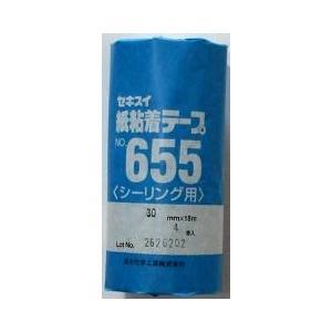セキスイ 紙粘着テープNO655 30mm×18m 40巻|shioken