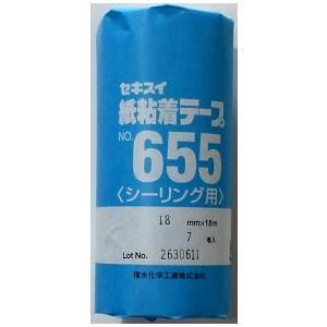 セキスイ 紙粘着テープNO655 18mm×18m 7巻|shioken