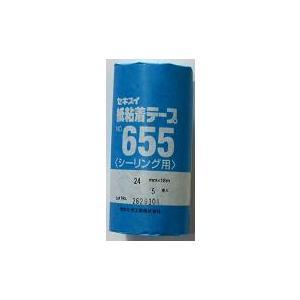 セキスイ 紙粘着テープNO655 24mm×18m 5巻|shioken