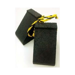 エコタイヤストッパー黒2個セット(トラ柄紐付き)