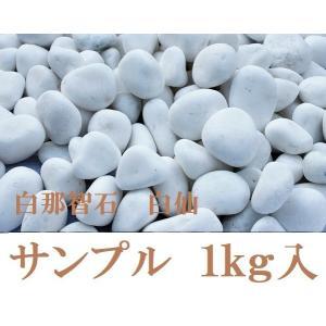 白那智石 白玉砂利白仙 サンプル 1kg|shioken