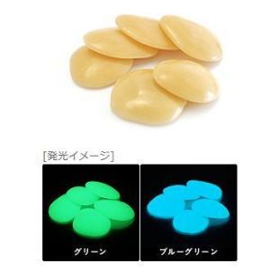 蓄光石 光る石 セレネストーン(大)ライトオレンジ 1kg|shioken