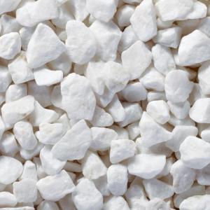 洋風砂利 ピュアホワイト クラッシュ 10kg 粒径13〜20mm |shioken