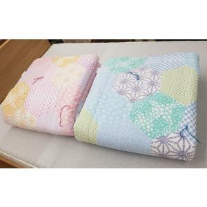 西川のキルトケット なごみ(裏ガーゼタイプ) シングルサイズ(140×190cm) 真夏におすすめ 毛布代わりにも|shiotafuton