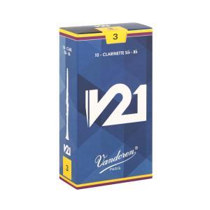 バンドーレン B♭クラリネット用リード V21 3(10枚入)Vandoren【定形外郵便 送料無料】 shiraimusic
