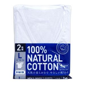 抗菌防臭Tシャツ2枚組(白/半袖V首)/Lサイズ/アイ・フィット工業|shiraishiyakuhin
