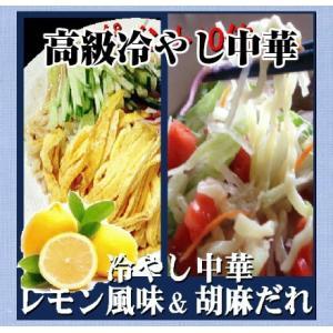 ラーメン送料無料 冷やし中華ラーメン  2種類10食セット冷やし中華ごまだれ& 冷し中華レモン風味|shirakawara-men