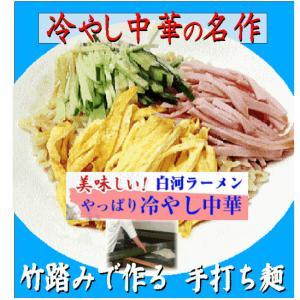 ラーメン送料無料 冷やし中華ラーメン  2種類10食セット冷やし中華ごまだれ& 冷し中華レモン風味|shirakawara-men|12