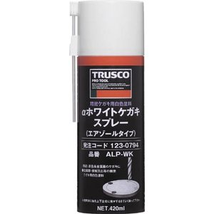 TRUSCO ホワイトケガキスプレー 420ml ALP-WK