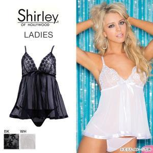 (シャーリーオブハリウッド) Shirley OF HOLLYWOOD 刺繍フラワー ベビードール&...