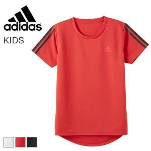 (アディダス)adidas 半袖 Tシャツ キッズ ジュニア 男の子 スポーツ クルーネック 吸汗速乾|shirohato